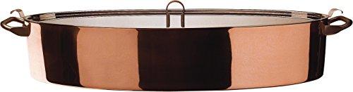 Alessi La Officina 90109 La Cintura di Orione Pesciera con Griglia, Acciaio Inossidabile 18/10/Rame, Argento