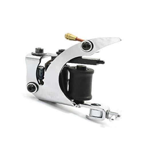 New Lon0167 10-Wrap Schwarzer Vorgestellt Spulenkern Silberfarbenes Gusseisen-Liner zuverlässige Wirksamkeit Tattoo-Maschinengewehr(id:c28 af 67 af7)