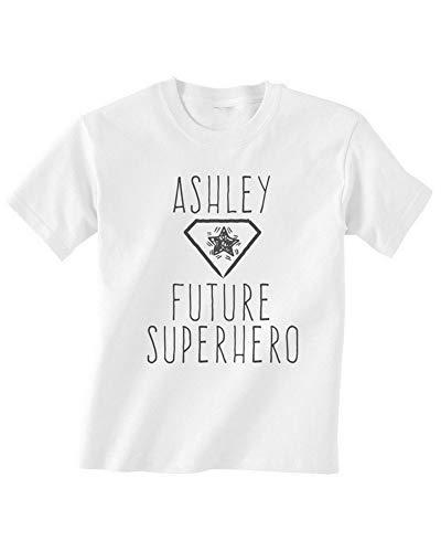 Shatel Clothing Future Superhero - Camiseta Personalizable para bebé Blanco Blanco 4-5 Años