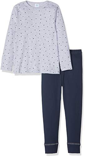 Sanetta Sanetta Baby-Jungen Pyjama Long Zweiteiliger Schlafanzug, Grau (Hellgrau Melange 1646.0), 92
