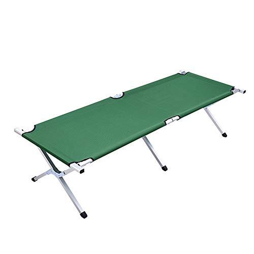 MGWA Muebles de camping al aire libre Portátil Campo ensanchado de refuerzo de la cama/almuerzo de tela Oxford plegado de acero