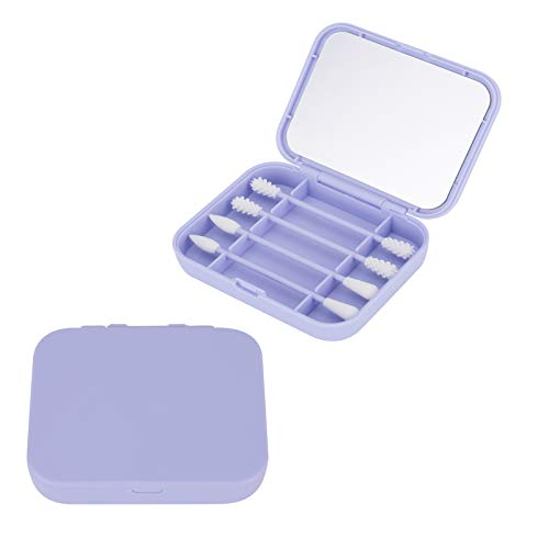TTOOP Wiederverwendbare Premium Silikon Wattestäbchen, umweltfreundliche Ohrstäbchen und Kosmetikstäbchen mit weichen Silikonaufsätzen, Tragbare Ohrstäbchen (Blau)