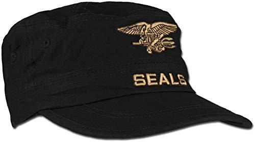 Casquette Noire Seals Style Militaire REGLABLE