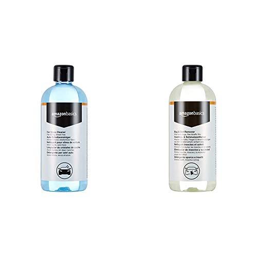 Amazon Basics - Auto-Glasreiniger, 500ml, Sprühflasche & Insekten- und Schmutzentferner, 500ml, Sprühflasche