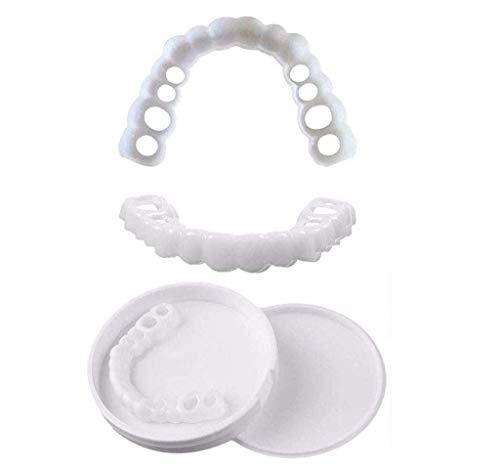 FEFCK Dentaduras Postizas De Sílice Adecuadas para Hombres Y Mujeres, Carillas De Dentadura Postizas Temporales Naturales Extraíbles para Una Sonrisa 10 Piezas