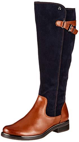 CAPRICE Damen Kania Hohe Stiefel, Braun (Cognac/Ocean 387), 39 EU