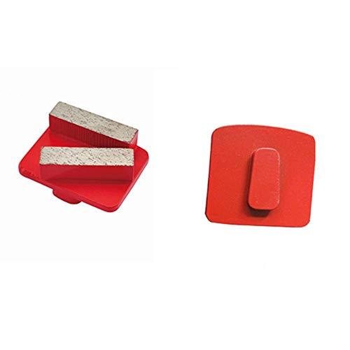 GT30 Redi Lock Zapatas de pulido de diamante de cambio rápido Disco de pulido de hormigón Almohadillas de pulido de piso para amoladora Husqvarna 12PCS, Extreme Hard-Blue, Husqvarna Blank