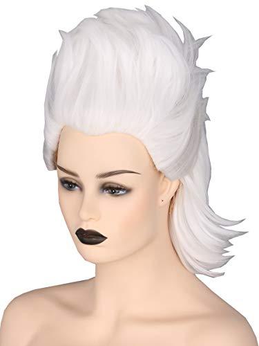Topcosplay Ursula Peluca, Corta Peluca Blanca para Mujer Bruja Ghost Peluca paraDisfraz de Halloween Cosplay Carnaval