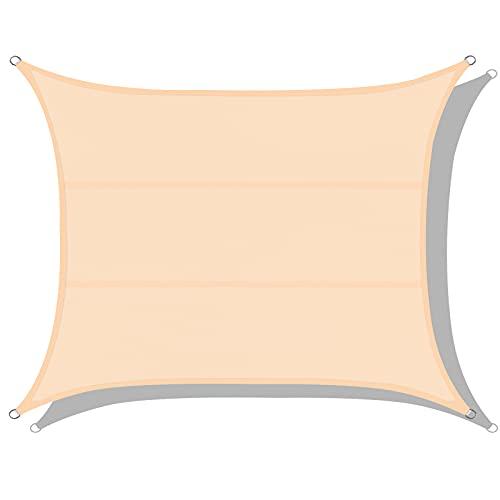 Toldos Impermeables Exterior, Eletorot Toldo Vela Rectangular 3 x 4 m,Toldos Exterior Terraza 95% Protección UV para Patio de Jardín Terraza Camping