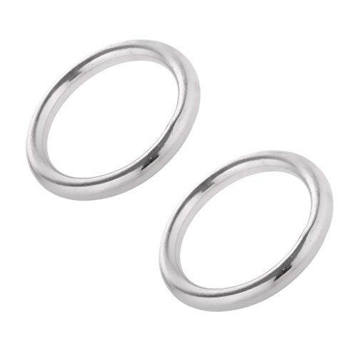 Edelstahlringe Edelstahl O Ring Rundring (2 Stück Pack) - 5 x 45mm