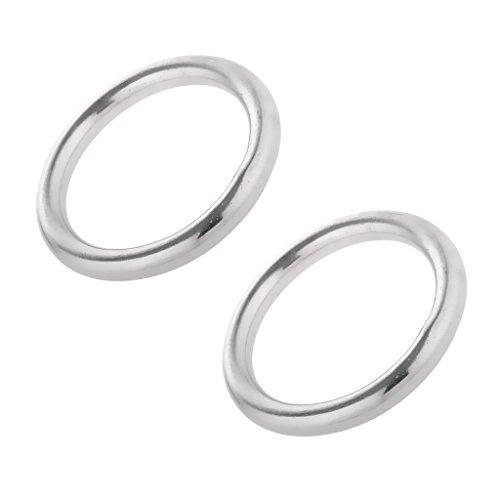 Edelstahlringe Edelstahl O Ring Rundring (2 Stück Pack) - 6 x 45mm