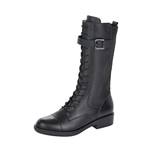 Remonte Damen Stiefel, Frauen Stiefel, feminin Freizeit leger Boots lederstiefel schnürstiefel weiblich,Schwarz(schwarz),41 EU / 7.5 UK