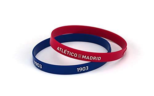 Atlético de Madrid Pulsera Relieve Roja y Azul Estándar para Hombre | Pulsera...