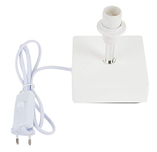 VBS Lampenfuß QUADER Fassung E14 weiß mit Schalter