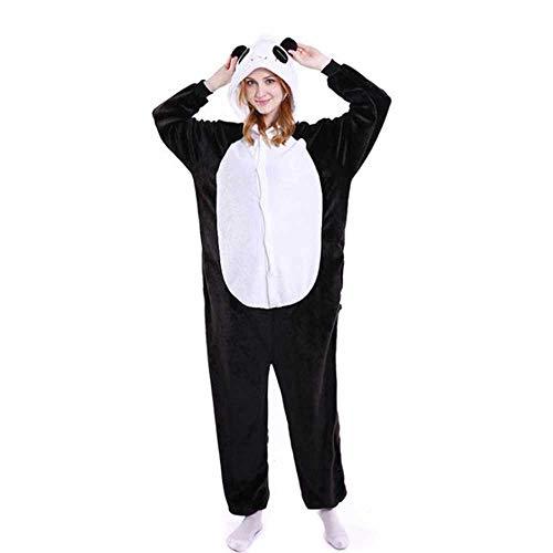 Fotografie Kinder Jungen Mädchen Party Kleidung Pyjama Flanell Pyjama Kinder Pyjama Kapuze Nachtwäsche Cartoon Tier Panda Cosplay Gr. Large, panda