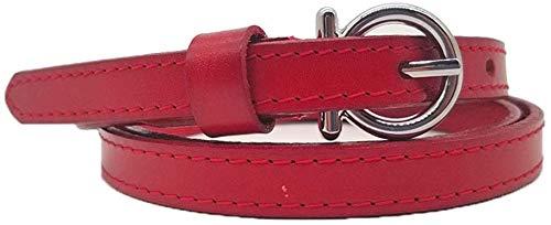Riemen Women Waist Belt Women's Leather Belt Zweep van het leer riem met Rok Decoratie Belt geschikt for alle seizoenen en plaatsen (Kleur: Rood) (Color : Red)