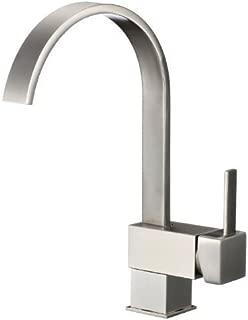 Yodel Swivel Head Modern Kitchen/Wet Bar Sink Faucet, Brushed Nickel
