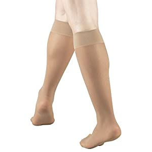 Truform 1763, Compression Stockings, Sheer, Knee High, 8-15 mmHg