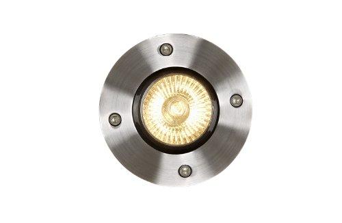 Lucide BILTIN - Spot De Sol Exterieur Extérieur - Ø 10,8 cm - GU10 - IP67 - Chrome Dépoli