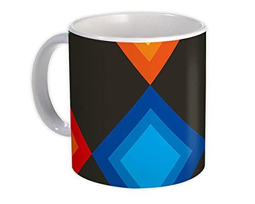 Losange colorido : Regalo Jarra : Decoración del hogar geométrica de diseño negro