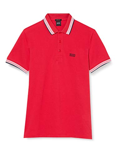 BOSS Herren Paddy Polohemd, Bright Red, XXL