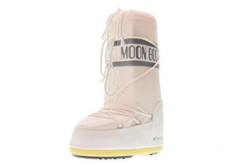 Moon Boot Nylon 14004400 - Bottes de Neige - Mixte Enfant Blanc (Weiß 6) 35-38 EU