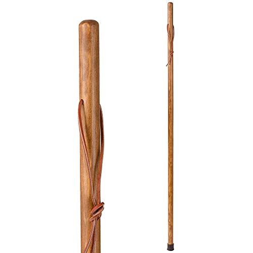 "Brazos 48"" Free Form Pine Wood Walking Stick Hiking Trekking Pole, Tan, Made in the USA"
