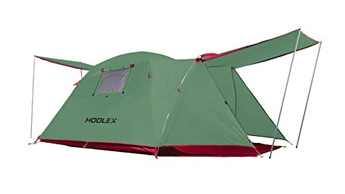 HODLEX Camping Outdoor Tent Durable Waterproof Family Large Tents Easy Setup 4 Person Tent with Porch Double Layer(Green)