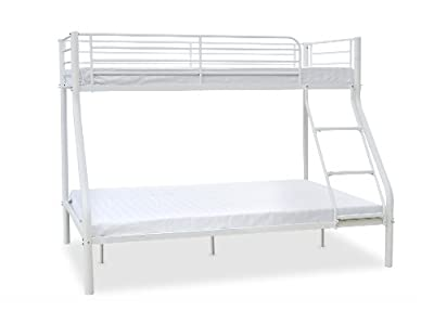Humza Amani Palmdale Metal Triple Sleeper Bunk Bed with 2 Economy Mattress Set