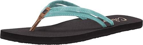 Cobian Women's Soleil Turquoise Flip Flops, 9