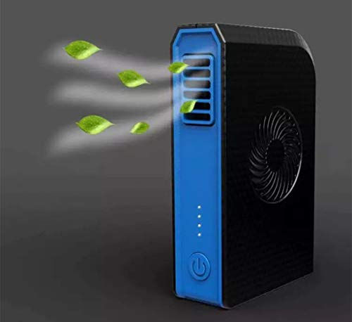 YZ-YUAN Charging Treasure Air Conditioner Fan 2 In 1Combo Fan No Blade Fan 6000Mah Mobile Power Fan For Home, Office, School, Dormitory, Outdoor Camping,Black