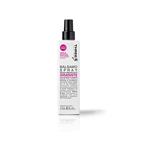 Faipa Three Après-shampoing hydratant sans rinçage ni parabène 250 ml