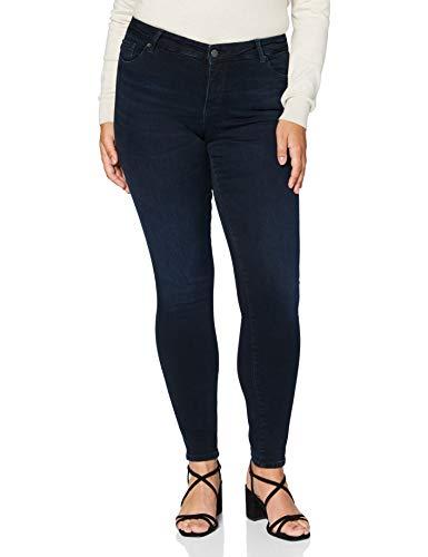 VERO MODA Damen VMELLA MR Slim Jeans CLR Color Jeanshosen, Navy Blazer, S/30L