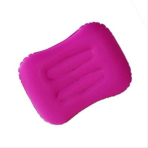Almohadas inflables en Forma de U, Almohada portátil de Viaje al Aire Libre, Paseo del Cuello Plegable Lento Rebote Memoria Espuma Tren avión B-púrpura