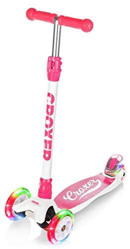 Croxer 3-Rad Scooter, Roller, Tretroller, Kinderroller, Cityroller Nicole mit LED leuchtenden Räder