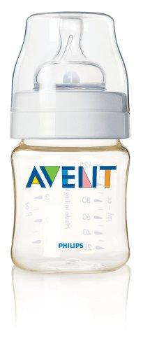 Philips AVENT libre de BPA botella, G, (1unidad), color marrón y dorado Talla:4 oz