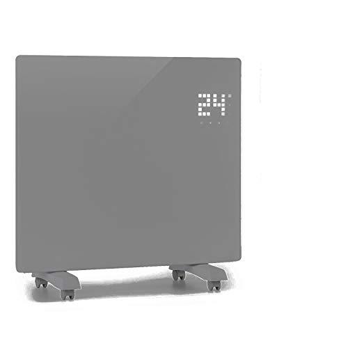 KLARSTEIN Bornholm Single Smart - Calefactor, Pantalla LED, Panel táctil, programable, Control por App, 2 Niveles: 500 y 1000 W, termostato 5-45°C, regulador de Temperatura, Modo Eco, Hueso