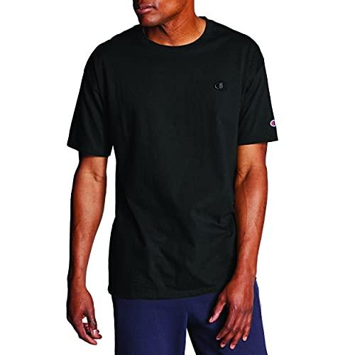 Champion Men's Classic Jersey T-Shirt, Black, XL