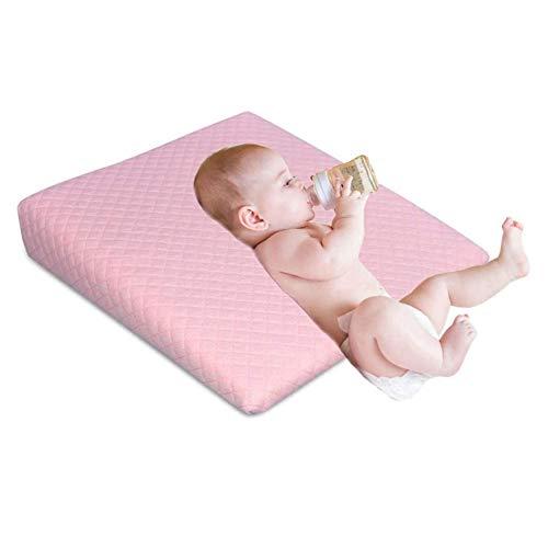 YLLQXI Cojín Cuña, Anti-Reflujo, Almohada para Bebe para Plagiocefalia Desenfundable, para Prevenir-Curar La Cabeza Plana In Memory Foam, For Babies from 0-6 Months