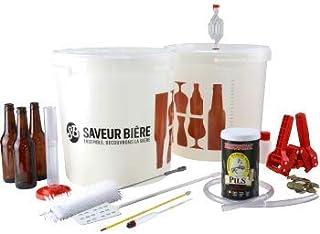 Kit de Brassage Complet - Brassez Votre bière à la Maison - Idée Cadeau - Brassez et embouteillez 20L de bière Blonde