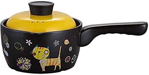Hitzebeständiger Auflauf Kochgeschirr Überzogene Aufläufe mit Muster Mehrzweck-Auflauf Topf Milchtopf für den Haushalt, 1,8 l