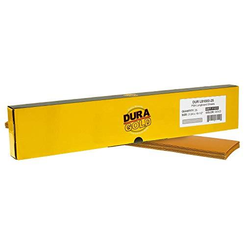 Dura-Gold - Premium - 1000 Grit Gold - Pre-Cut Longboard Sheets 2-3/4