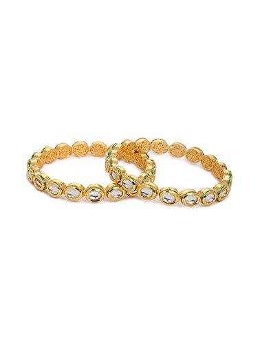 Traditionelles Kada indisches Kundan Armreifen, Brautschmuck, Kada Armband, indisches Schmuck-Set