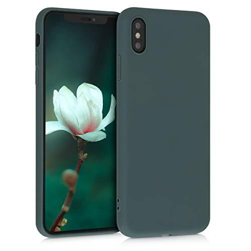 kwmobile Cover Compatibile con Apple iPhone XS Max - Cover Custodia in Silicone TPU - Backcover Protezione Posteriore - Verde Blu