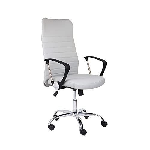 GOLDFAN Bürostuhl mit Armlehne Arbeitsstuhl mit Hoher Rückenlehne Höhenverstellbarer Schreibtischstuhl für Heim und Büro, (Grau)