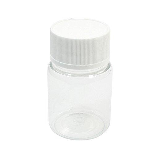 『uxcell 60mL 7cm x 4.2cm ホワイト 透明なプラスチック 滑り止めのキャップ 液体容器 ボルト ケース』のトップ画像