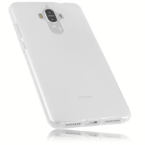 mumbi Hülle kompatibel mit Huawei Mate 9 Handy Hülle Handyhülle, transparent Weiss