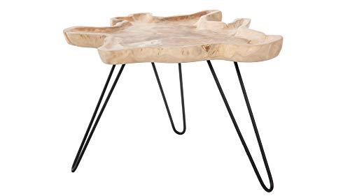 Kouboo Teak Wood Petal Side Coffee Table, Brown