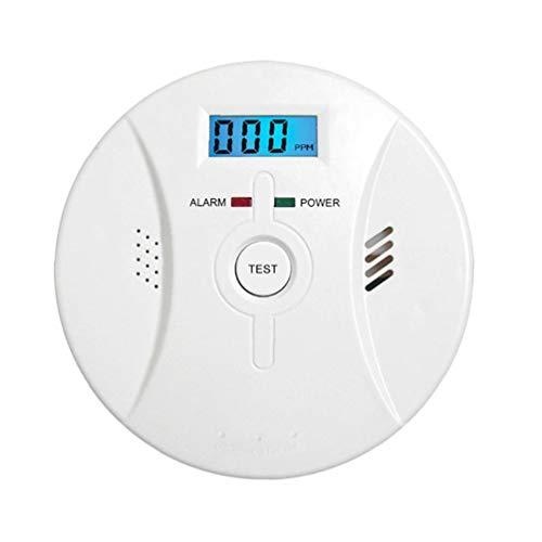 KHHGTYFYTFTY Alarm Rauch Kohlenmonoxid-Alarm mit LCD-Display Sprachbenachrichtigung für Heim Feuer Gas Leaks
