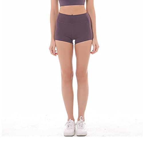 Pantalones Cortos para Mujer Pantalones Cortos Deportivos clásicos Casuales para Todo fósforo Estiramiento Delgado Yoga Correr Medias de Cintura Alta a la Cadera M